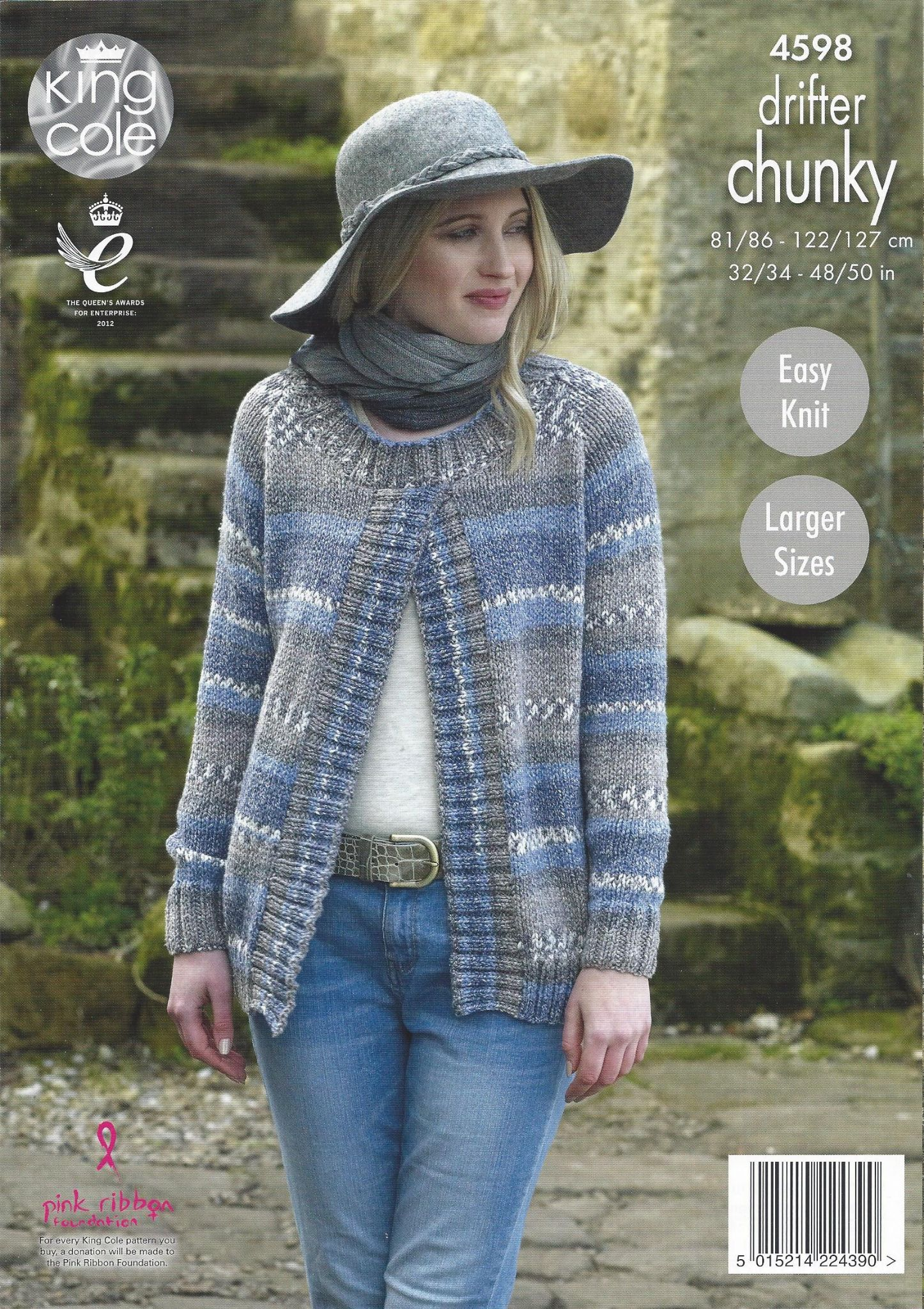 King Cole Drifter Chunky 4598 Ladies Sweater Jacket